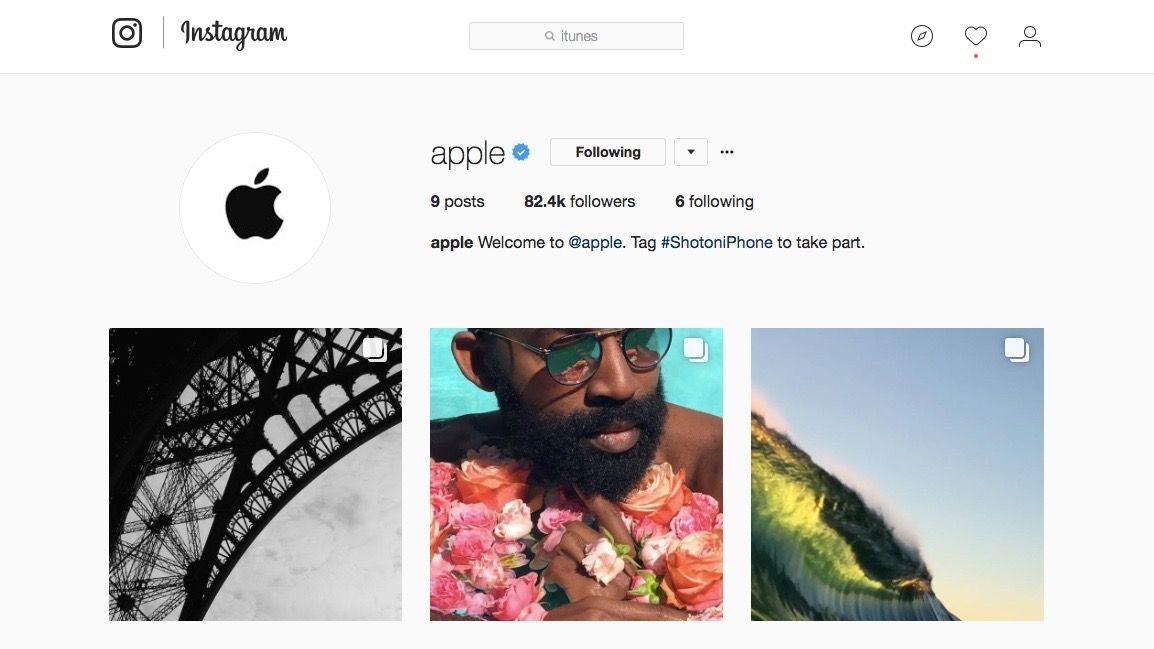 Apple's official Instagram account is all about photos ...