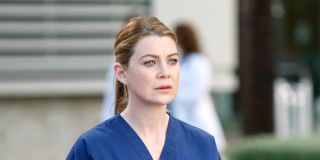 Meredith outside the hospital