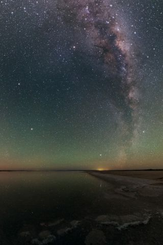 Arcturus and the Milky Way over Lake Hart