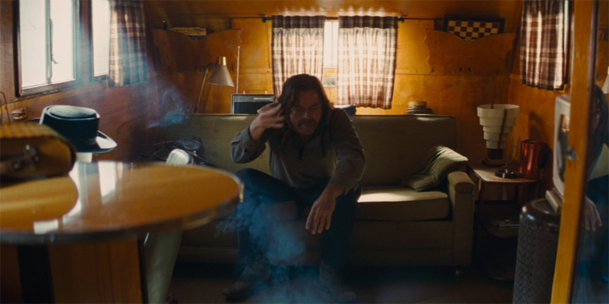 Rick Dalton freaking out in his trailer in Once Upon A Time In Hollywood