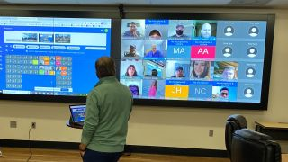 Distance learning system at King's College in Wilkes-Barre, PA