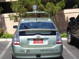 Photo of a Google car in Nevada
