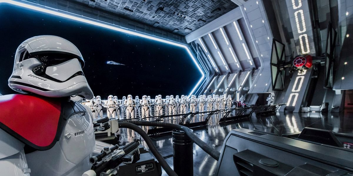 Rise of the Resistance promotional image with Stormtroopers