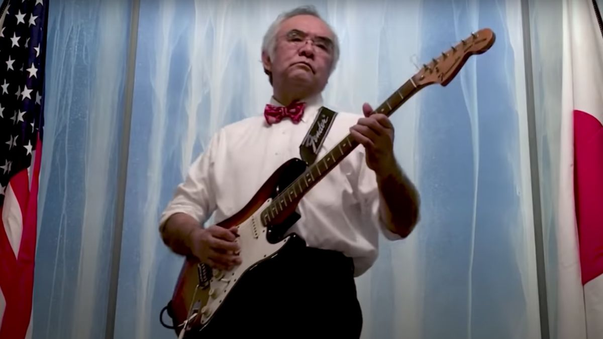 Watch the Japanese Consul General to the US play a ripping Hendrix-inspired version of The Star-Spangled Banner