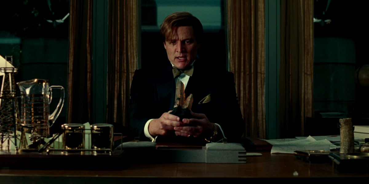 Maxwell Lord at his desk in Wonder Woman 1984