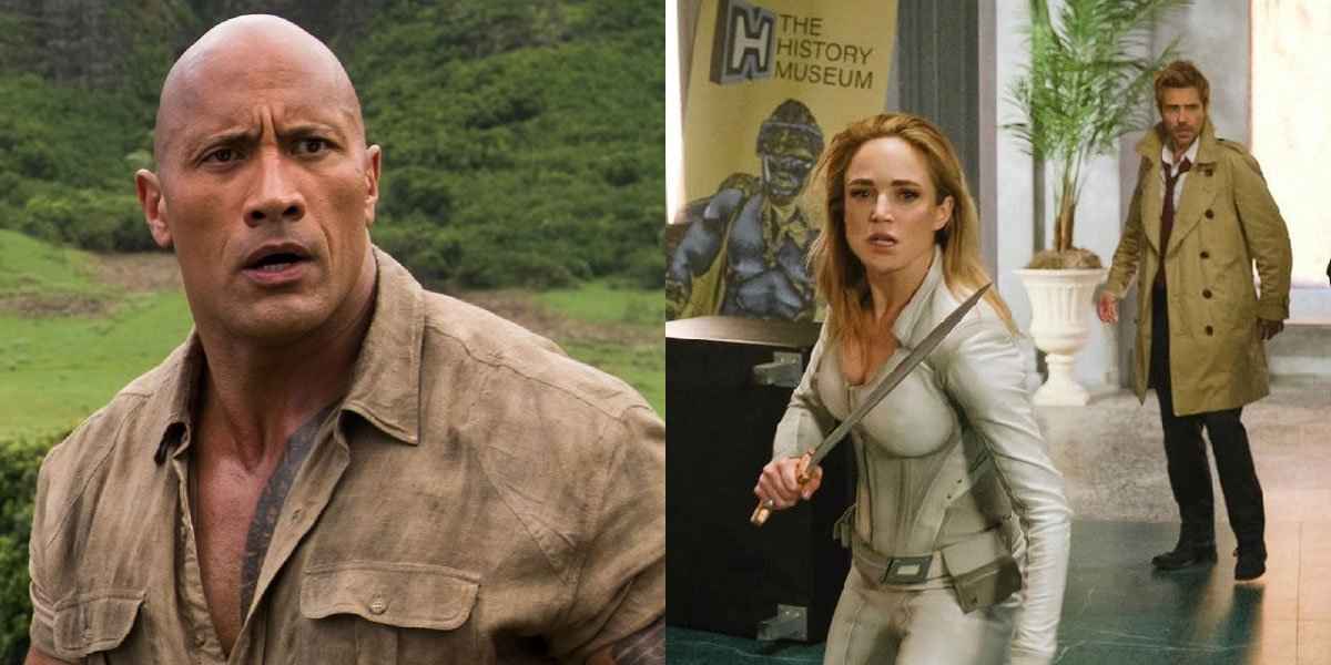 Dwayne Johnson as Spencer in Jumanji: Welcome to the Jungle and the LOT cast