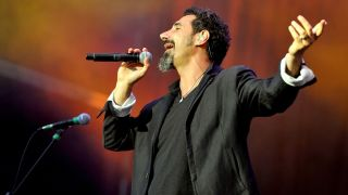 Serj Tankian of System Of A Down performs at Day 2 of the Leeds Festival