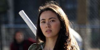 Colleen Wing with her sword on the streets of New York