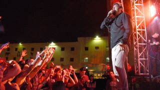 A picture of Chino Moreno performing live