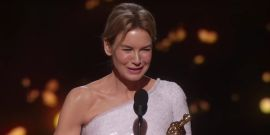 Renee Zellweger Hanging With Parasite's Director At The Oscars Bar Will Make Your Day