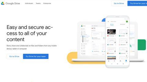 Google Drive's homepage
