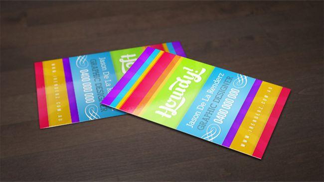 Free business card templates: Rainbow