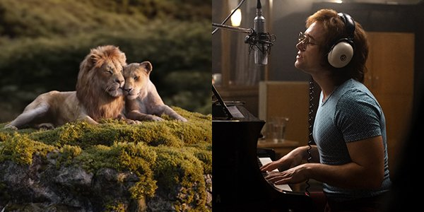 The Lion King and Rocketman