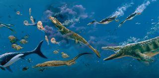 Cretaceous sea mural