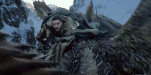 jon snow riding dragon game of thrones season 1 episode 1 hbo
