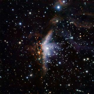 Two-Face Nebula Is Half Light, Half Dark