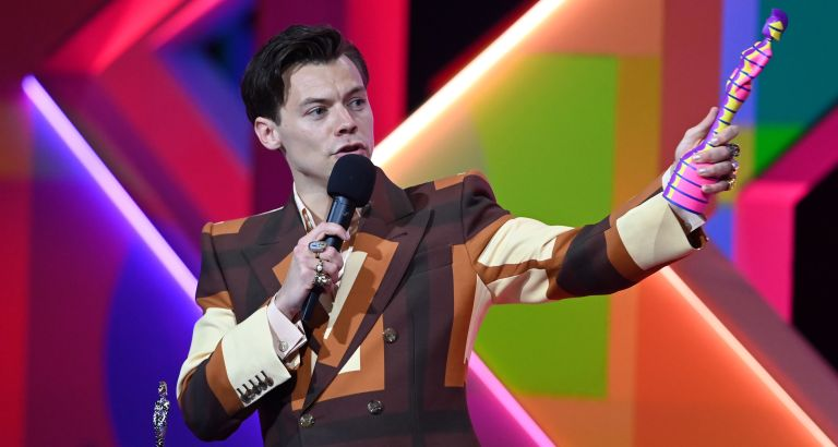 The best part of Harry Styles' Brit Awards outfit? A face mask | My Imperfect Life
