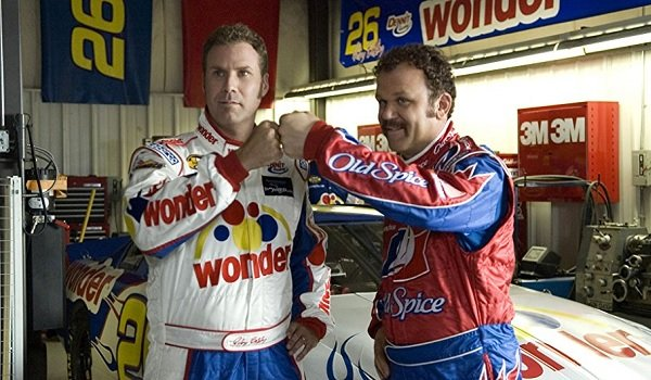 Talladega Nights: The Ballad of Ricky Bobby Will Ferrell John C. Reilly fist bumping like champs