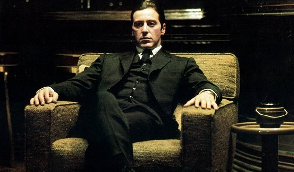 The Godfather Part II Al Pacino Michael sits in his study