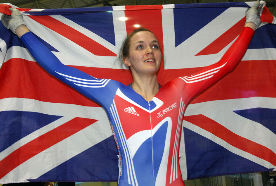 Victoria Pendleton union flag
