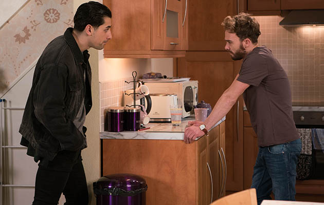 David struggles to defend himself when he confronts an unrepentant Josh about last night