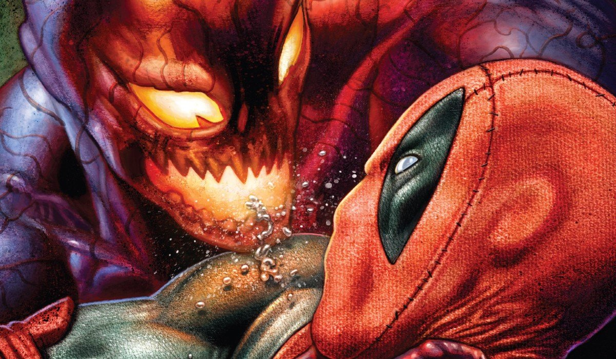 Carnage getting way too close to Deadpool Marvel Comics