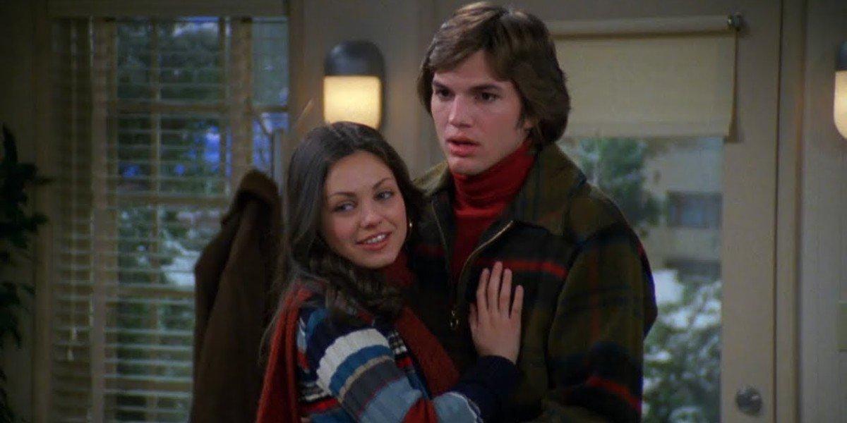 Mila Kunis and Ashton Kutcher in That '70s Show