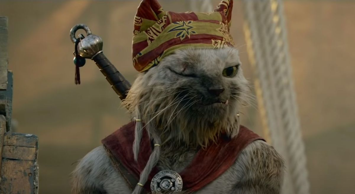 DyP8pVMHA2niiQjsQZiYLj 1200 80 Here's what the palico in the Monster Hunter movie will look like The Meowscular Chef, as seen in Monster Hunter the movie