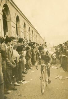 Federico Bahamontes at the Giro d'Italia in 1956