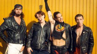 Red Hot Chili Peppers, Anthony Kiedis, Flea, John Frusciante, Chad Smith, Pinkpop Festival, Landgraaf, Holland, 04/06/1990