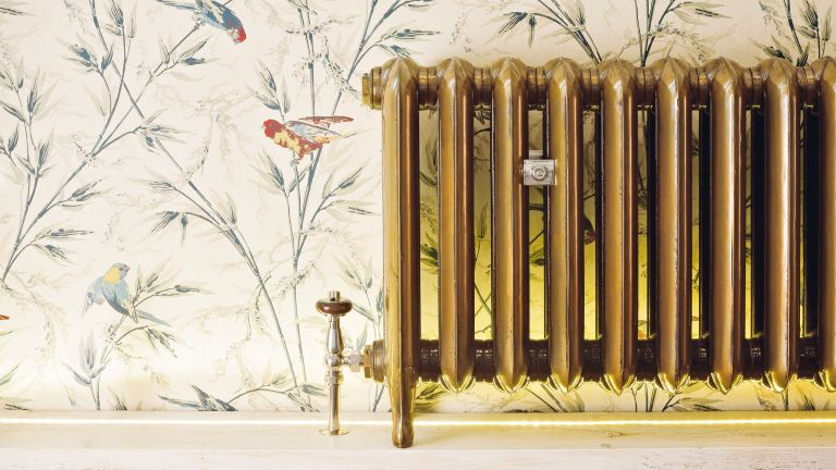 Reduce your energy costs: Princess aged gold vintage radiator