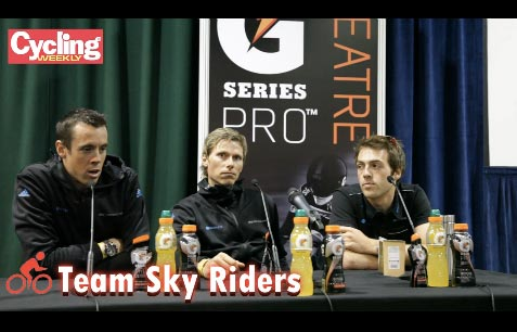 Team Sky at Road Cycling Show 2012