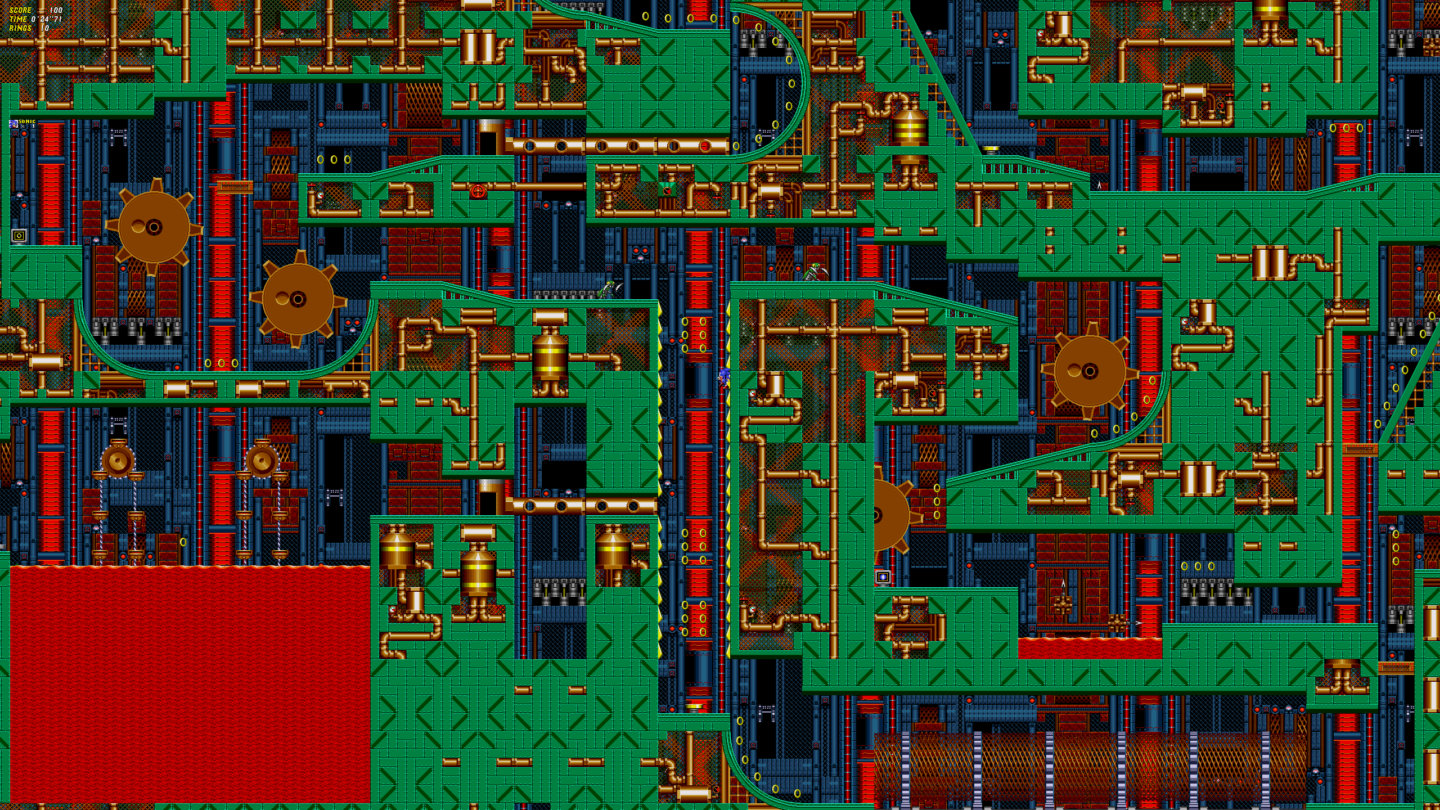 This high-res Sonic hack crams entire stages onto a single screen