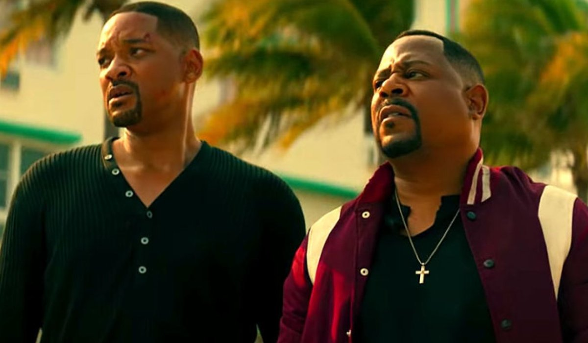 Bad Boys For Life Will Smith and Martin Lawrence gathering themselves in the street
