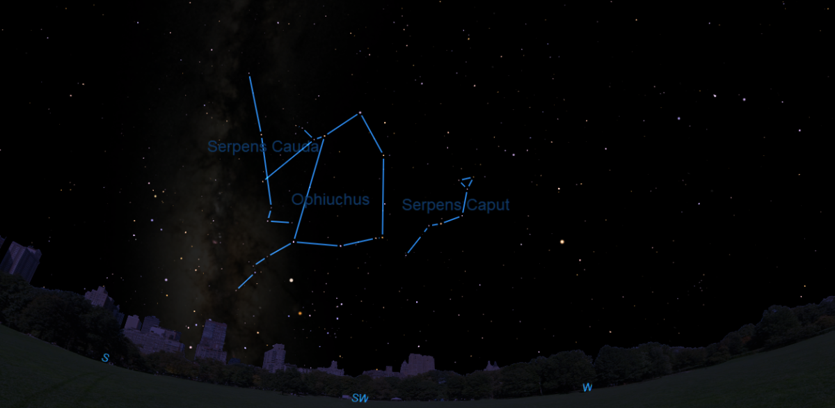 How to See Ophiuchus and His Serpent in the Night Sky