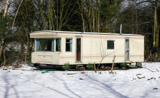 Caravan living on site