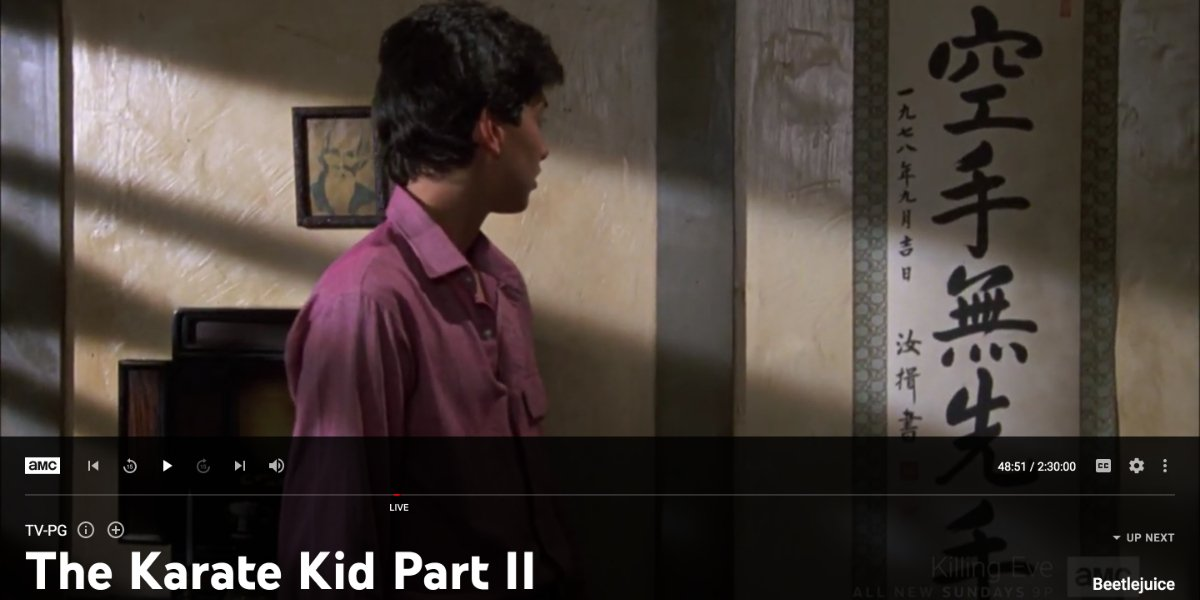 The Karate Kid Part II on YouTube TV
