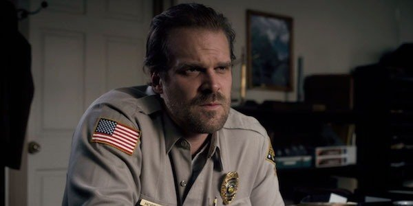 David Harbour in Stranger Things Season 1
