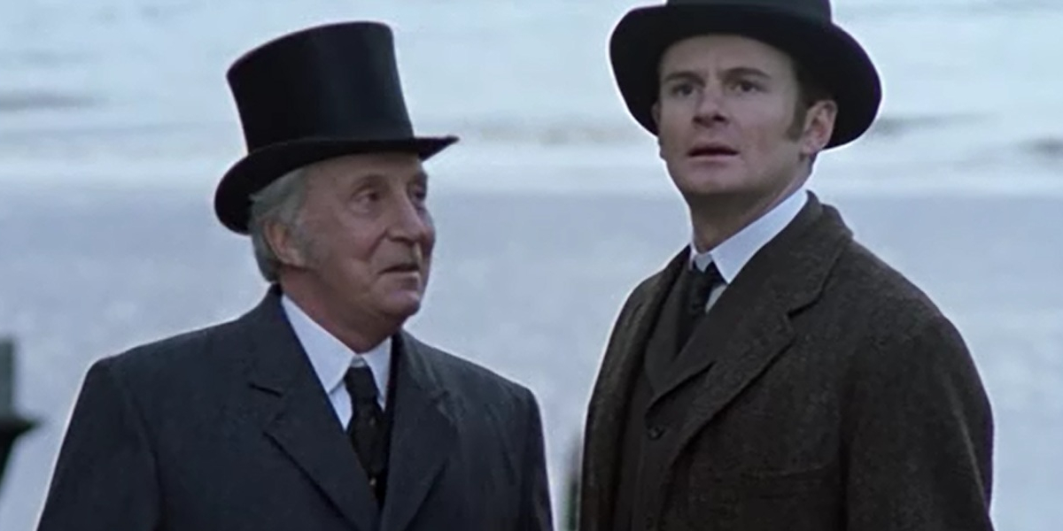 Ian Richardson and Charles Edwards in Murder Rooms