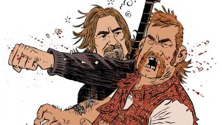 A cartoon of Geezer Butler's bar brawl