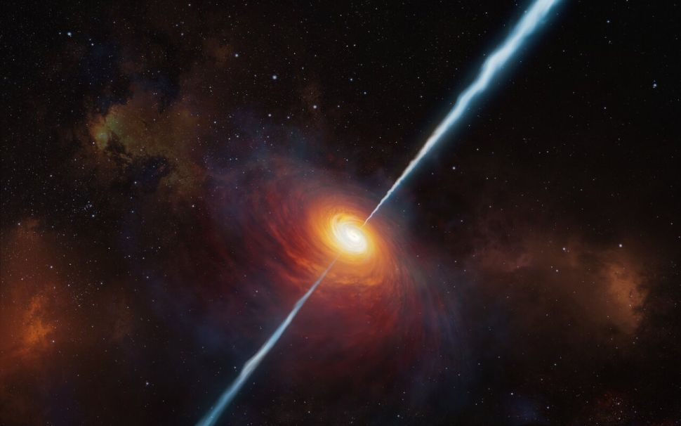 Scientists find most distant quasar shooting powerful radio jets