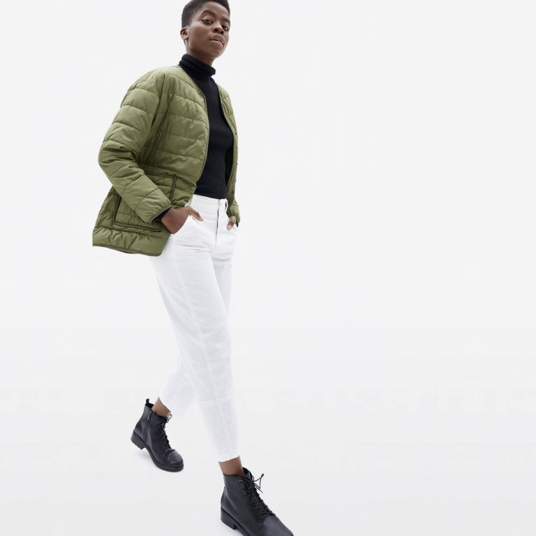 Everlane, recycled polyester, recycled coat, sustainable fashion