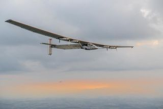 Solar Impulse 2 at dawn