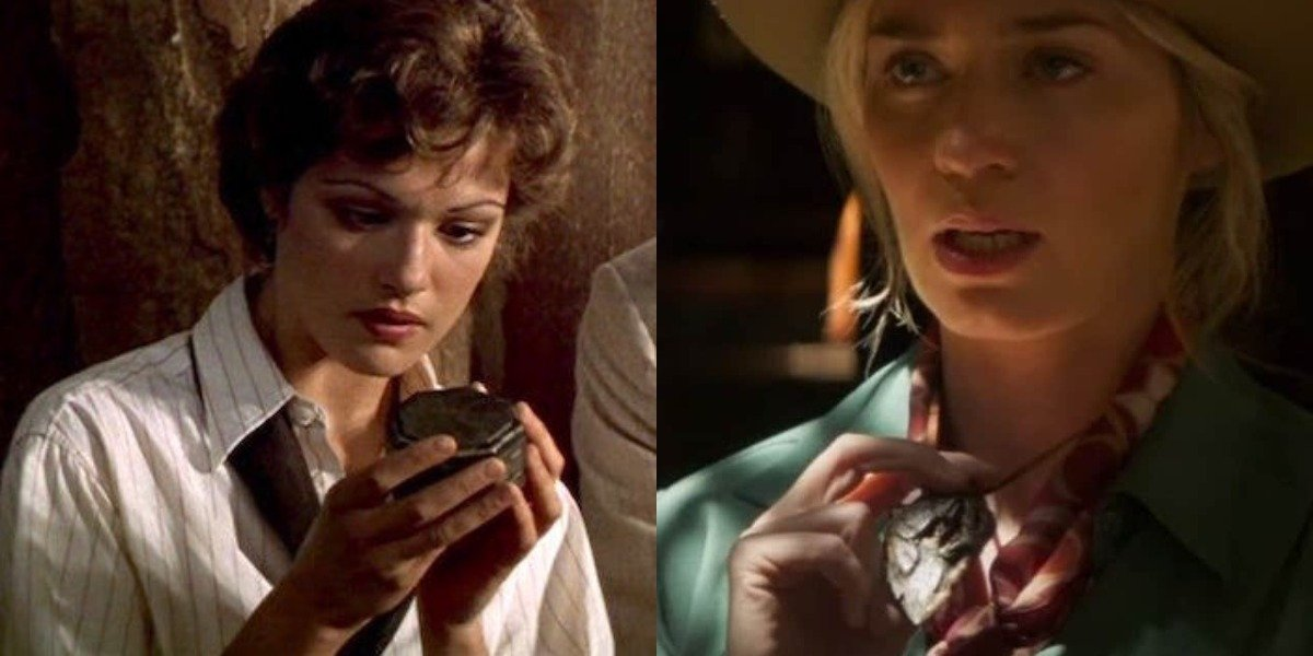 Rachel Weisz in the mummy and Emily Blunt in Jungle Cruise