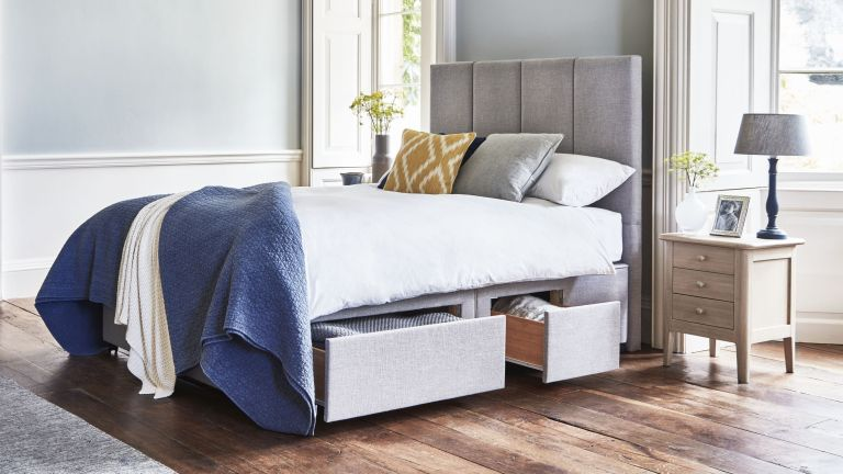 Willow & Hall The Braydon Divan Storage Bed In Zinc
