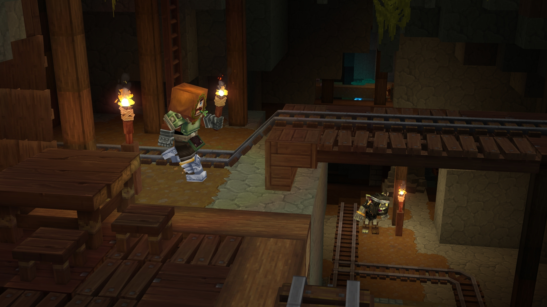 An in-development image of blocky RPG Hytale from July 2021.