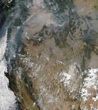 Western Wildfires from Space, August 2015