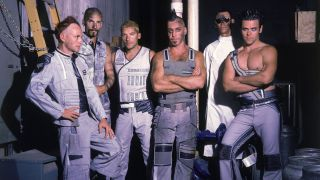 A press shot of Rammstein in the late 90s