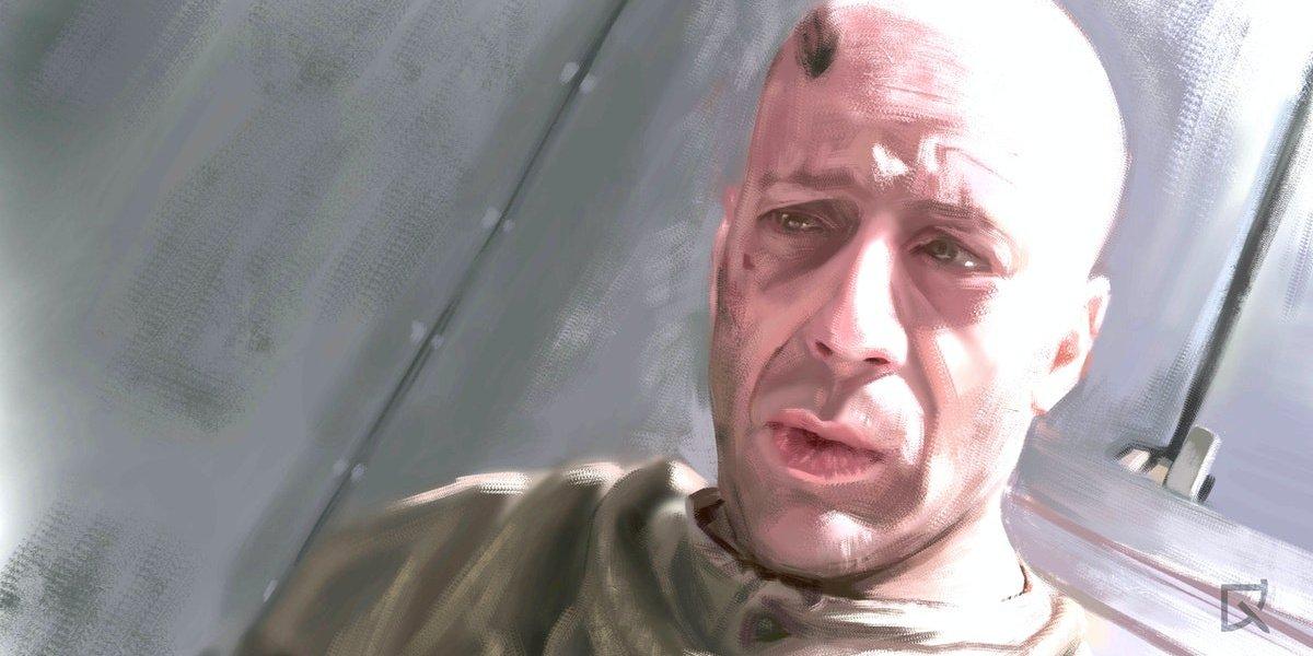 Bruce Willis in 12 Monkeys.