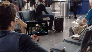 Netflix in the airport